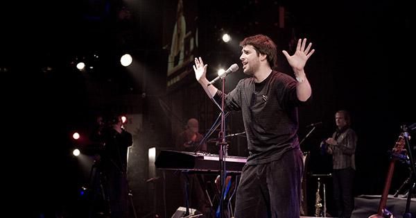 Петр Налич на концерте в Б1. Фото Николай Рыков