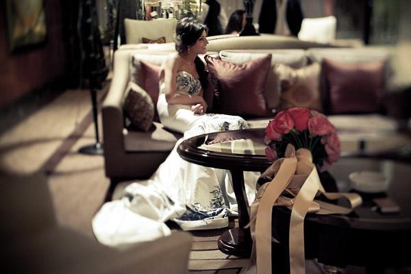 Невеста в интерьере
