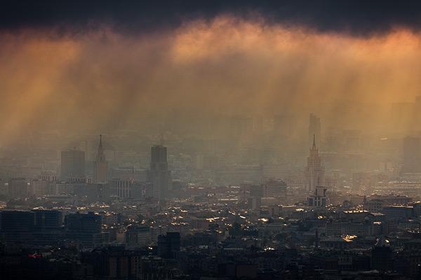 Фотосъемка рассвета. Панорамы Москвы