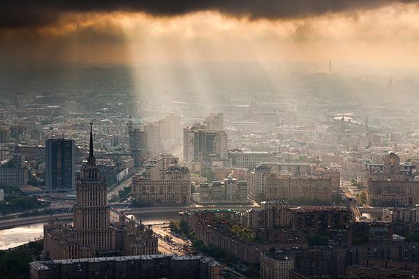 Город Москва, панорамы города