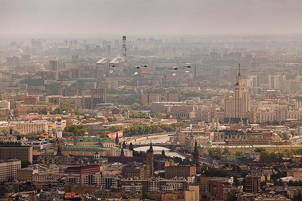 Фото отчет 9-е мая с крыши Москва-Сити
