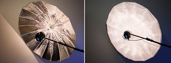 Параболический зонт Silver PLM