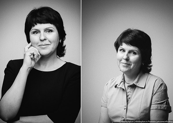 Студийная съемка сотрудников компании. Фотограф Николай Рыков