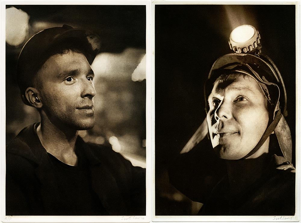 Фотографии Николая Рыкова отпечатанные в технике офорта Светланой Ланшаковой для проекта Металлургия моей страны