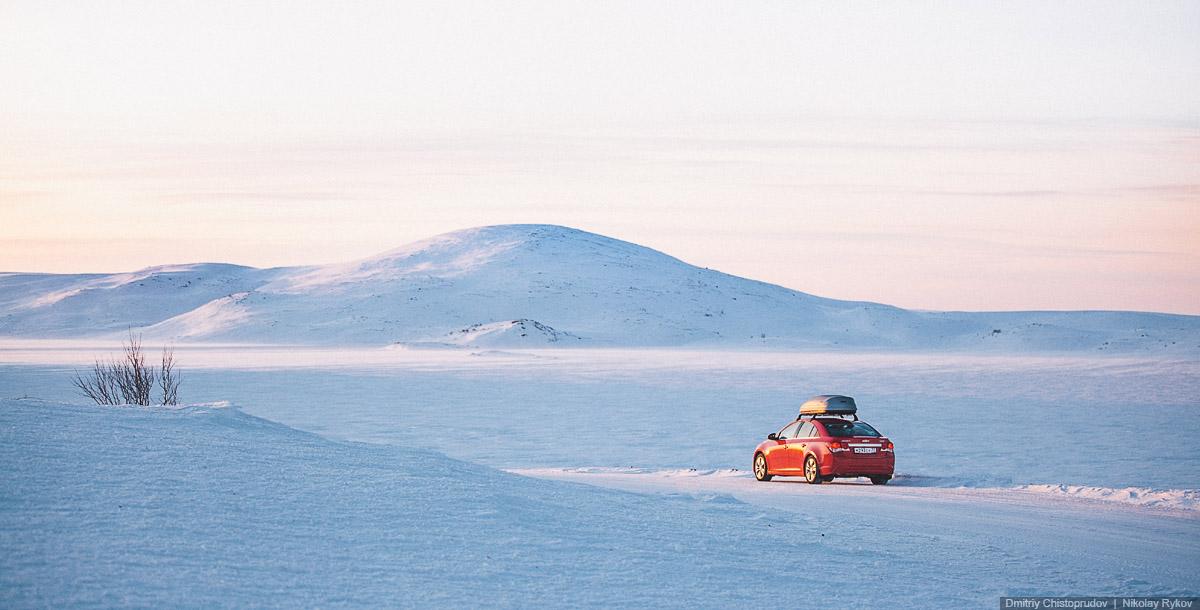 Фотосъемка автомобиля Шевроле на Кольском. Фотографы Николай Рыков и Дмитрий Чистопрудов.