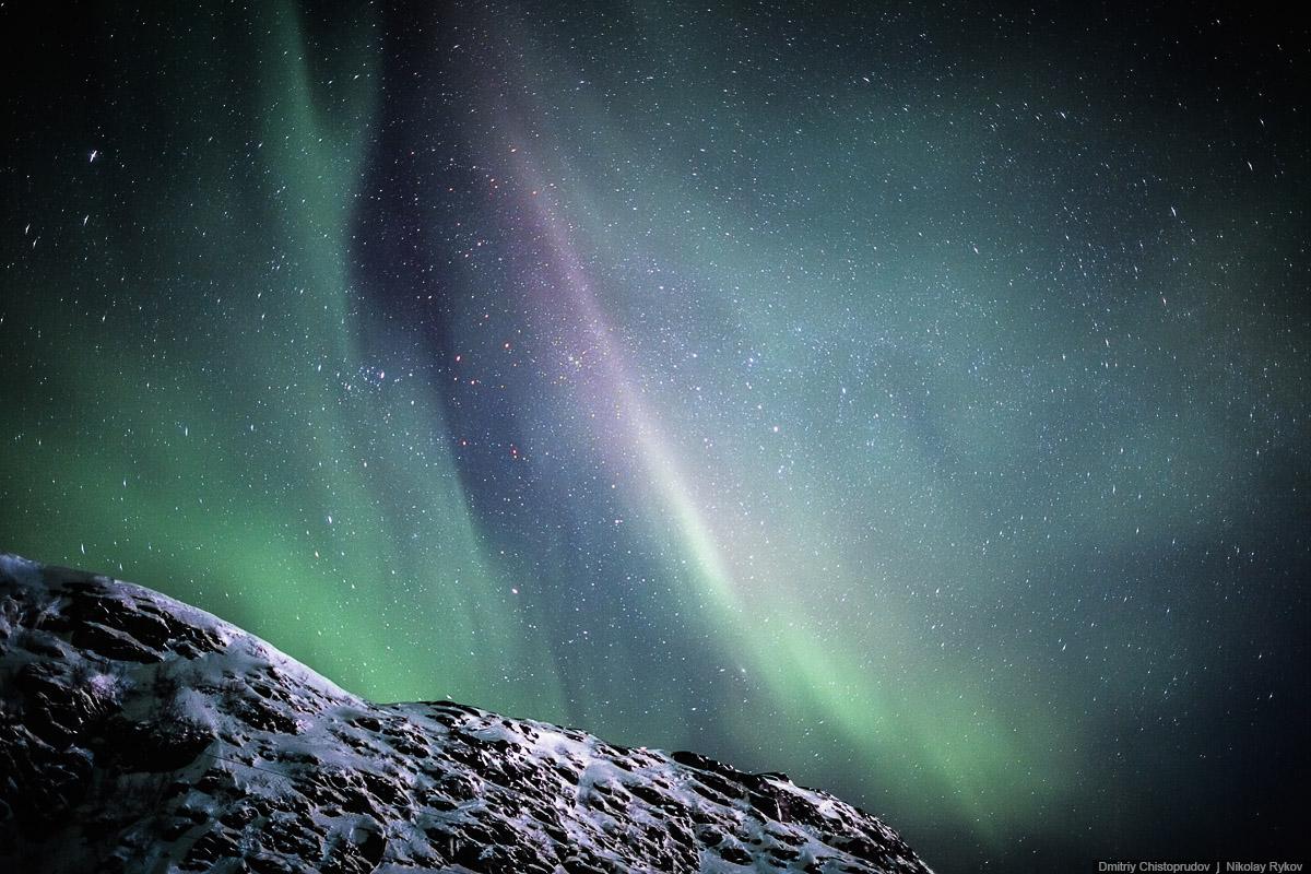 Фотографии полярного сияния Дмитрия Чистопрудова и Николая Рыкова